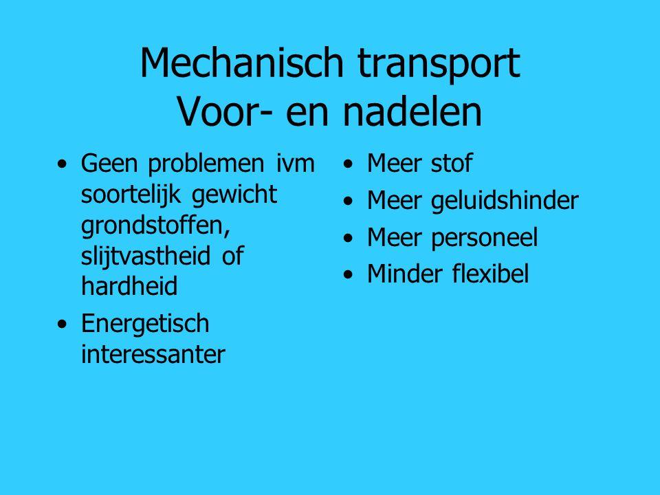 Mechanisch transport Voor- en nadelen