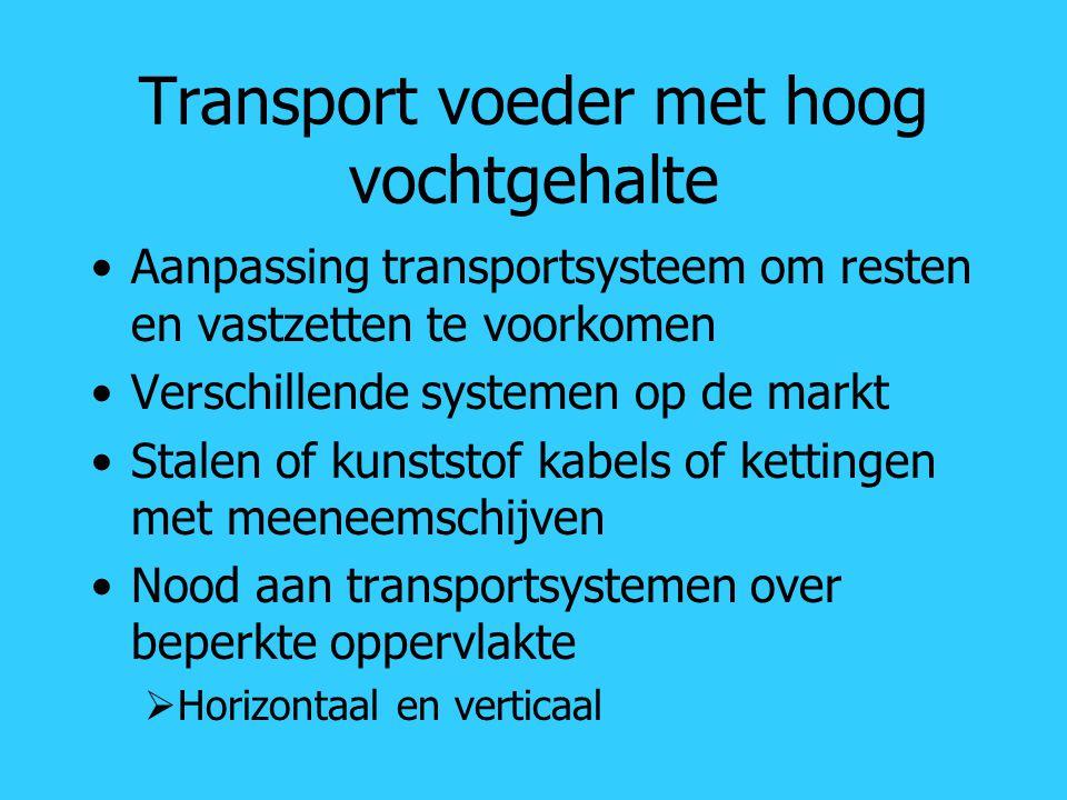 Transport voeder met hoog vochtgehalte