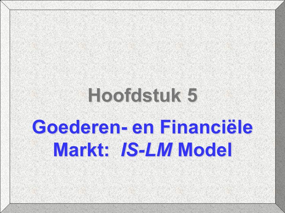 Goederen- en Financiële Markt: IS-LM Model