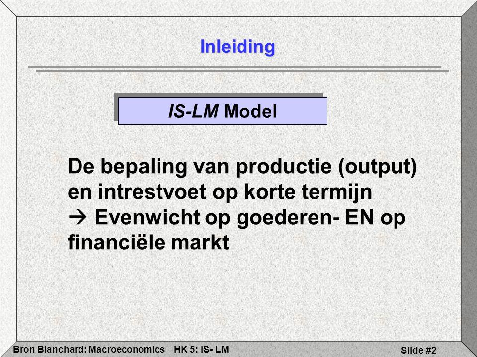 De bepaling van productie (output) en intrestvoet op korte termijn