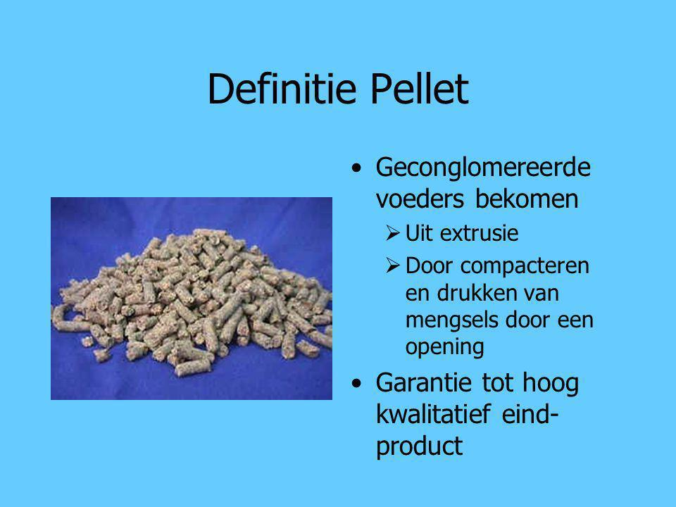 Definitie Pellet Geconglomereerde voeders bekomen