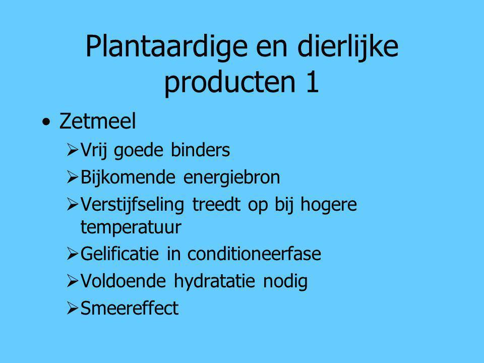 Plantaardige en dierlijke producten 1