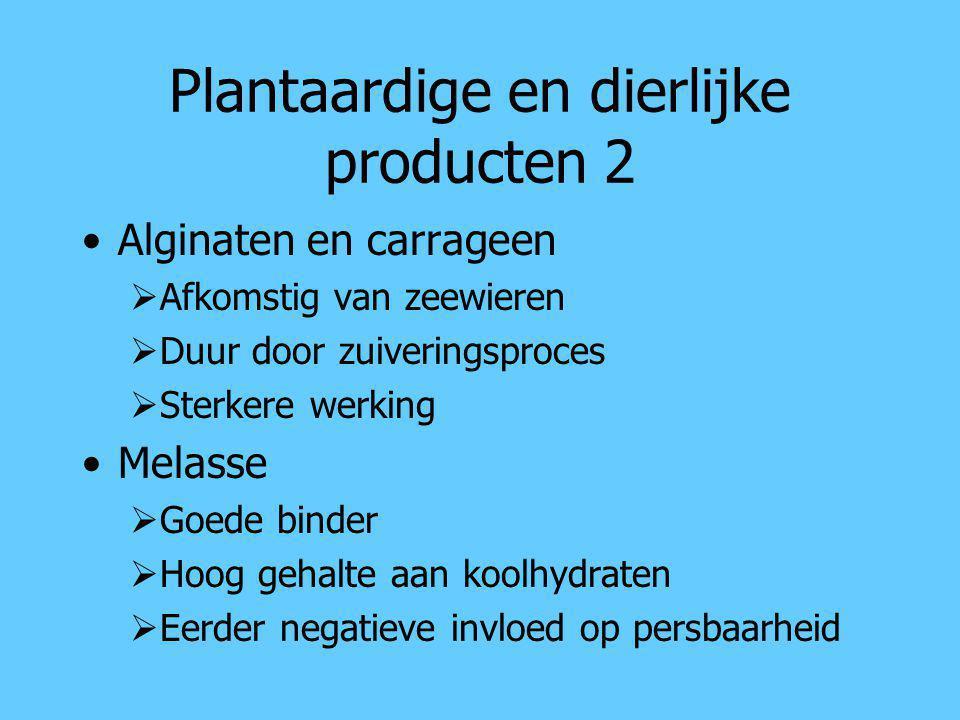 Plantaardige en dierlijke producten 2