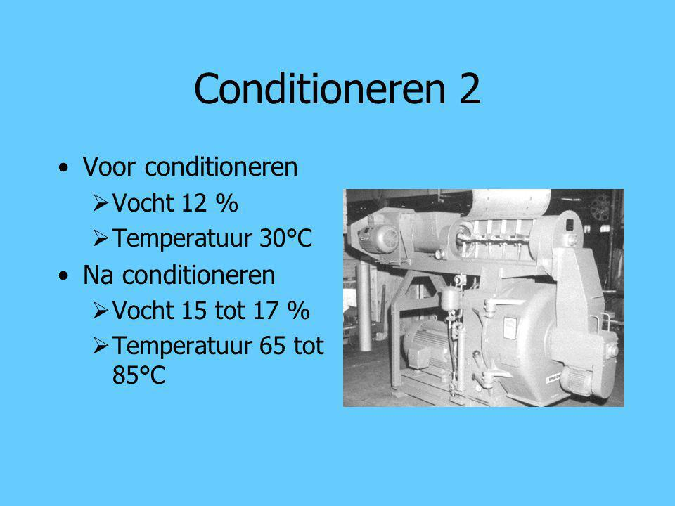 Conditioneren 2 Voor conditioneren Na conditioneren Vocht 12 %