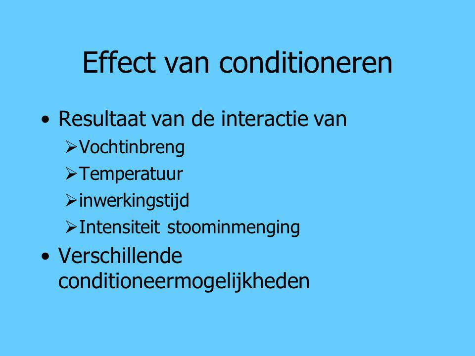 Effect van conditioneren