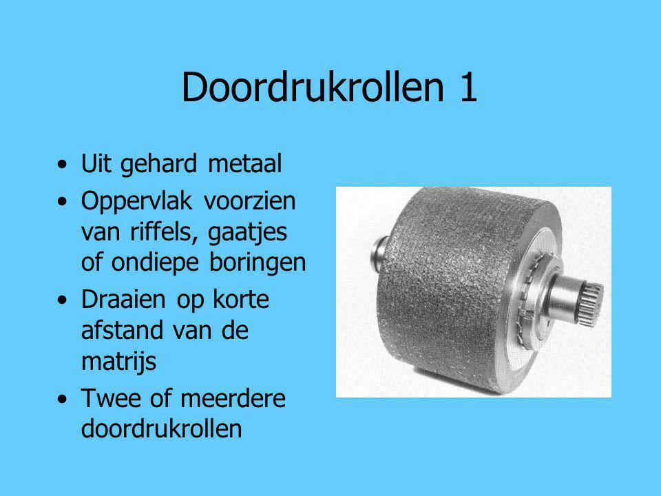 Doordrukrollen 1 Uit gehard metaal