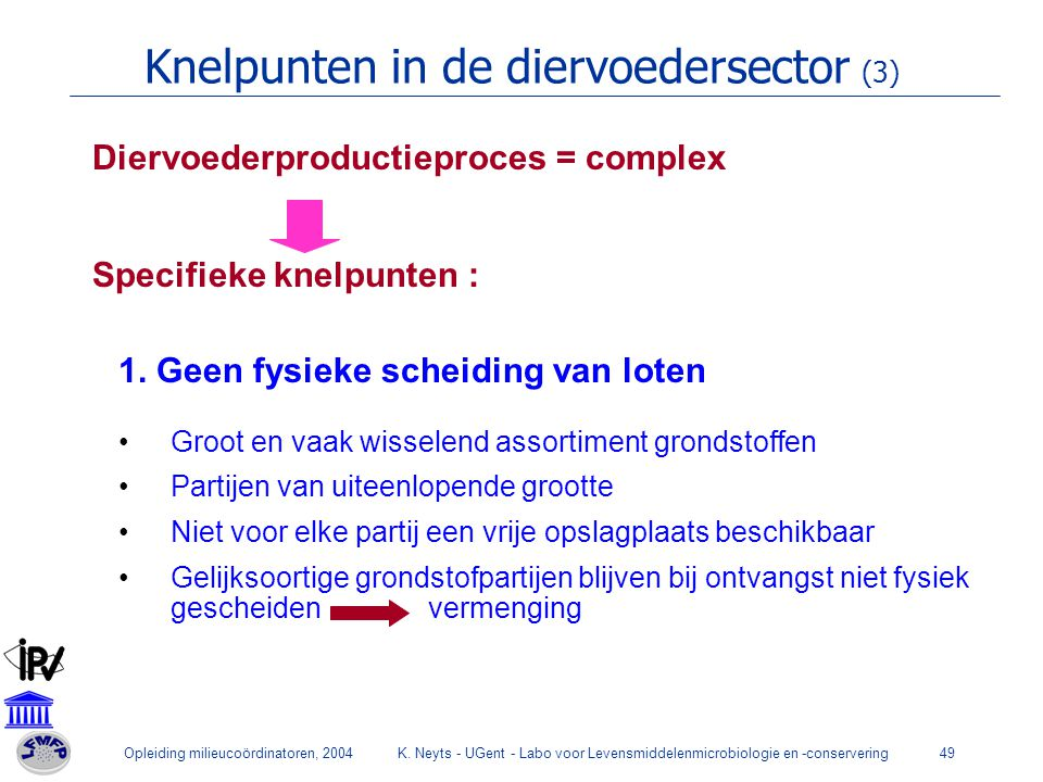 Knelpunten in de diervoedersector (3)