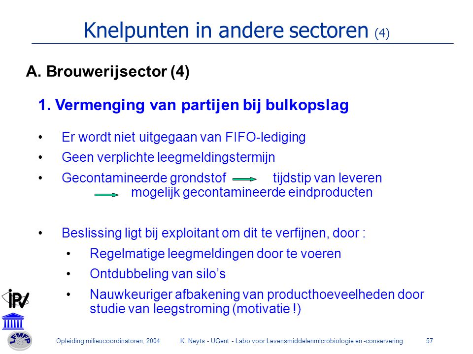 Knelpunten in andere sectoren (4)