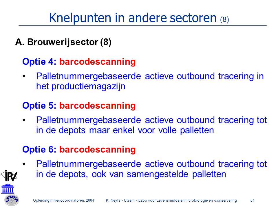 Knelpunten in andere sectoren (8)