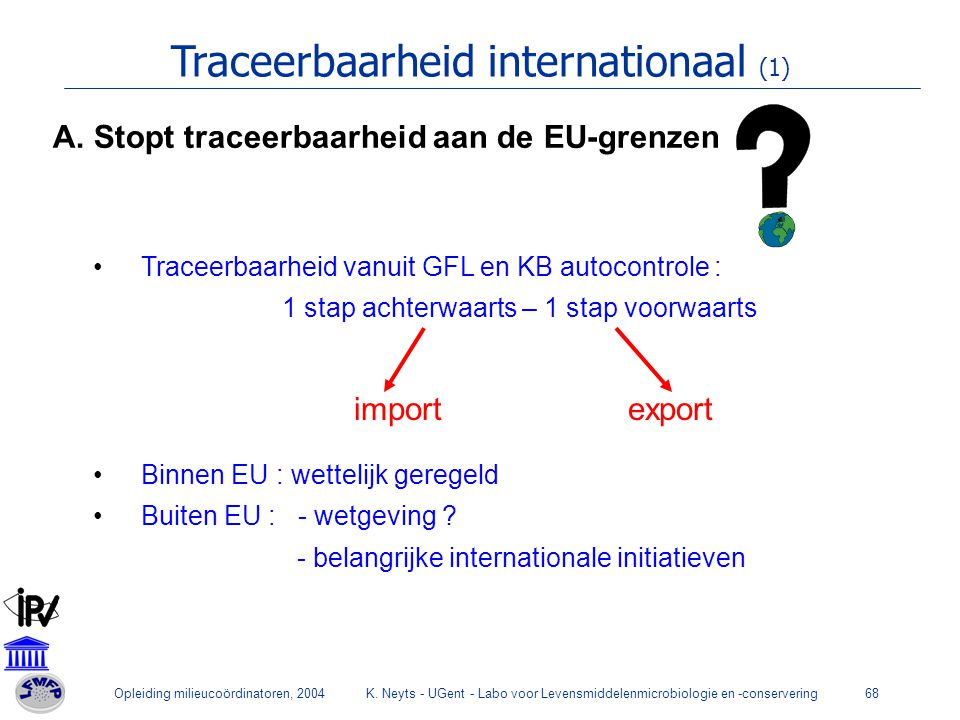 Traceerbaarheid internationaal (1)