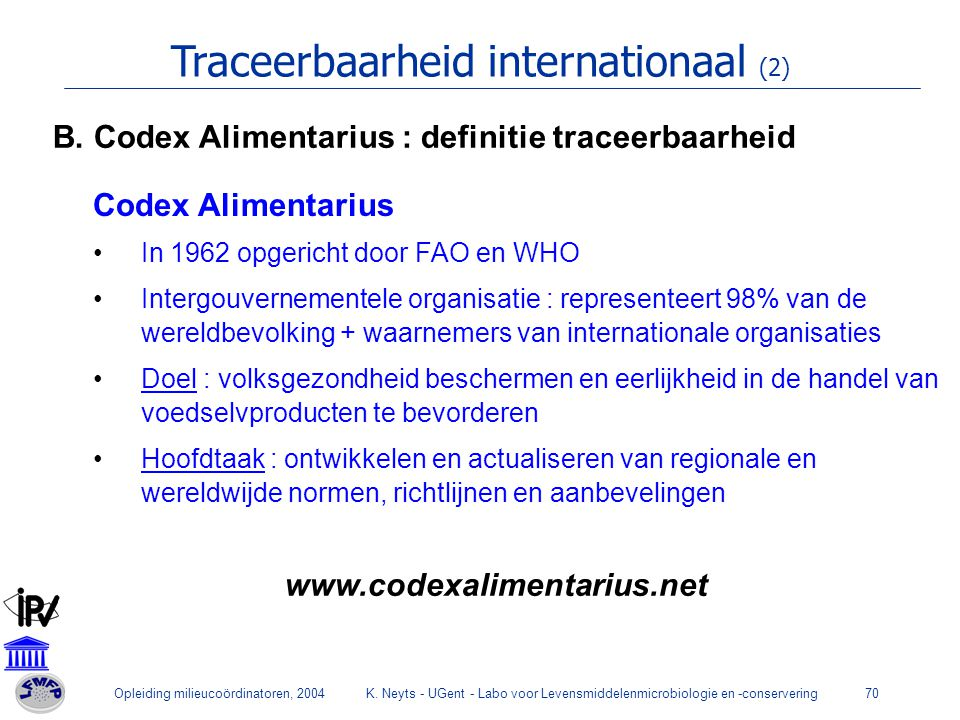 Traceerbaarheid internationaal (2)