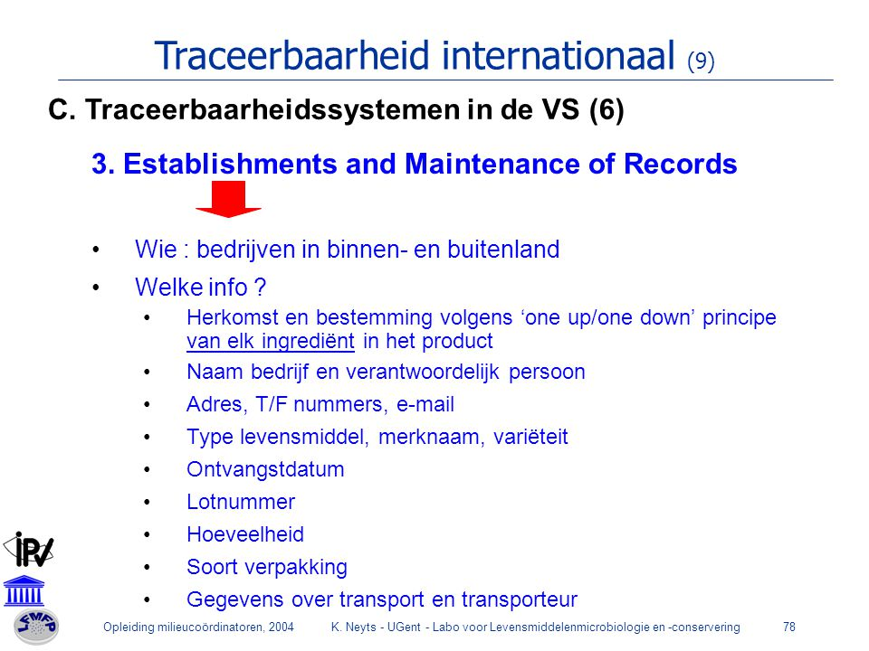 Traceerbaarheid internationaal (9)