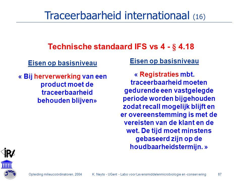 Technische standaard IFS vs 4 - § 4.18