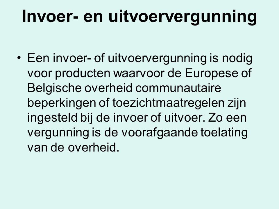 Invoer- en uitvoervergunning