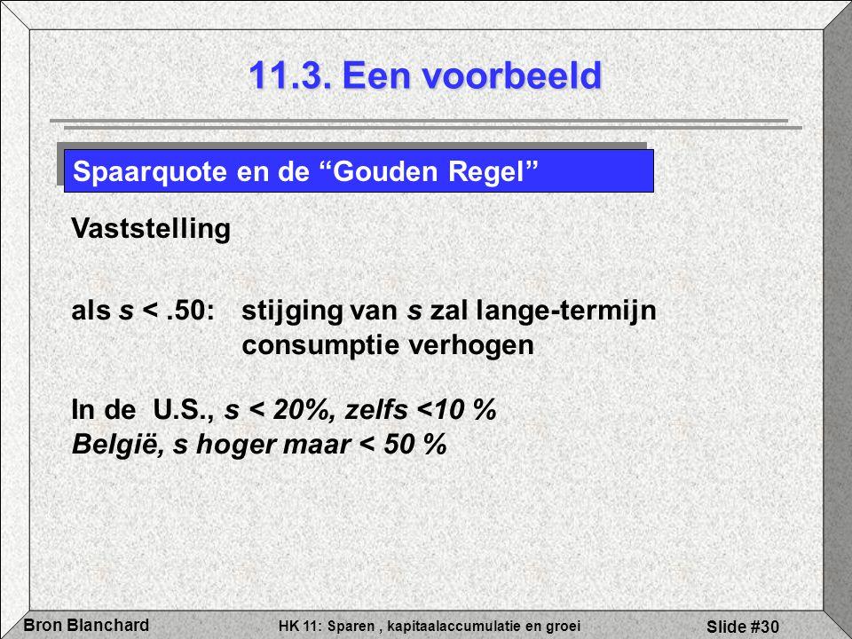 11.3. Een voorbeeld Spaarquote en de Gouden Regel Vaststelling