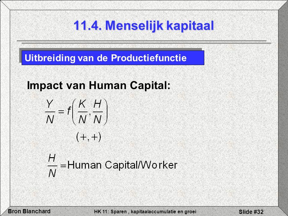 11.4. Menselijk kapitaal Impact van Human Capital: