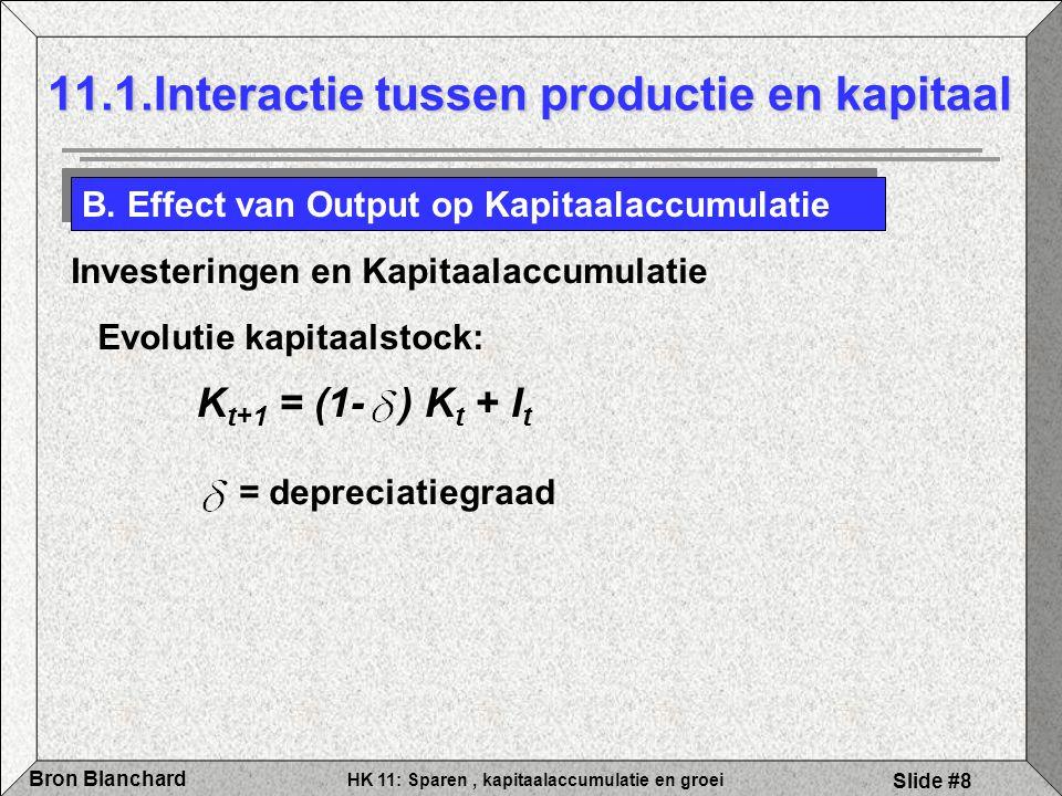 11.1.Interactie tussen productie en kapitaal