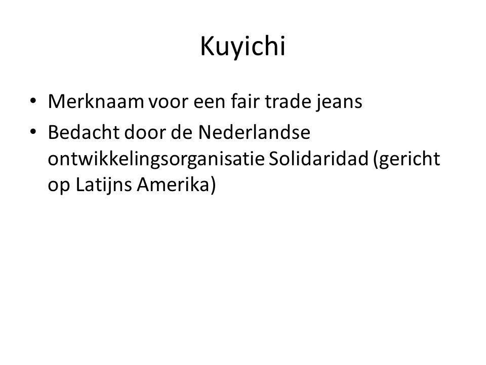 Kuyichi Merknaam voor een fair trade jeans