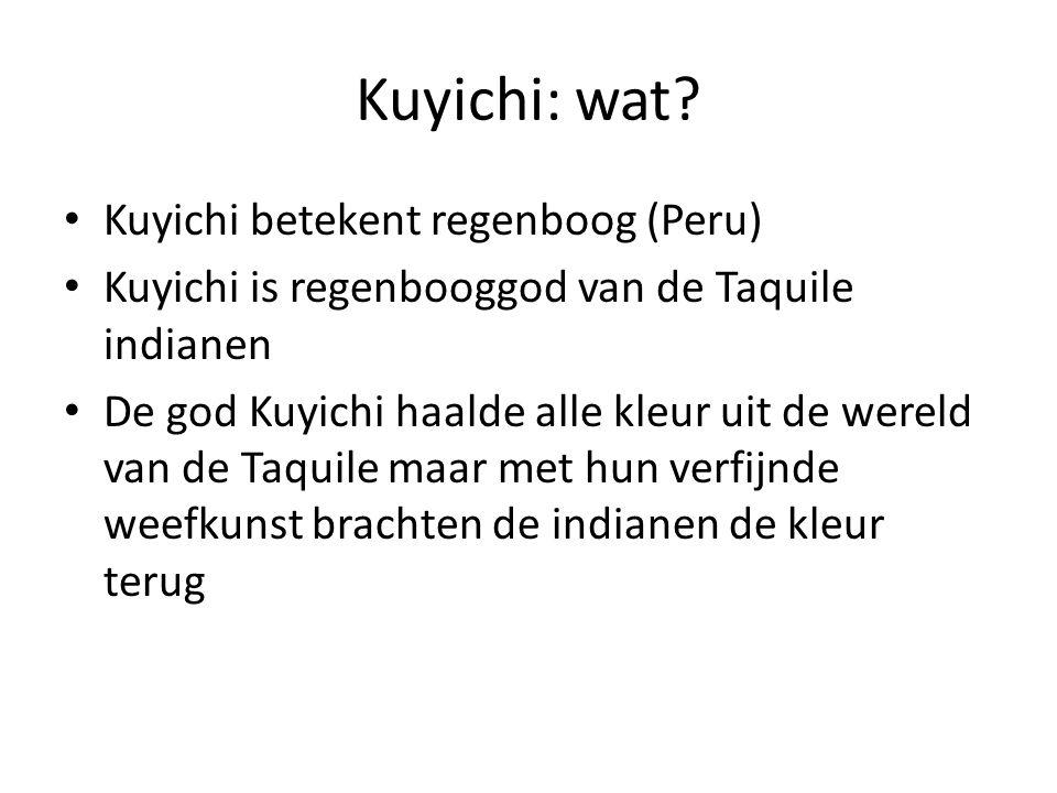 Kuyichi: wat Kuyichi betekent regenboog (Peru)