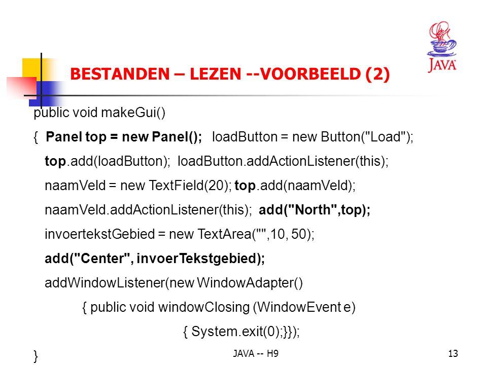 BESTANDEN – LEZEN --VOORBEELD (2)
