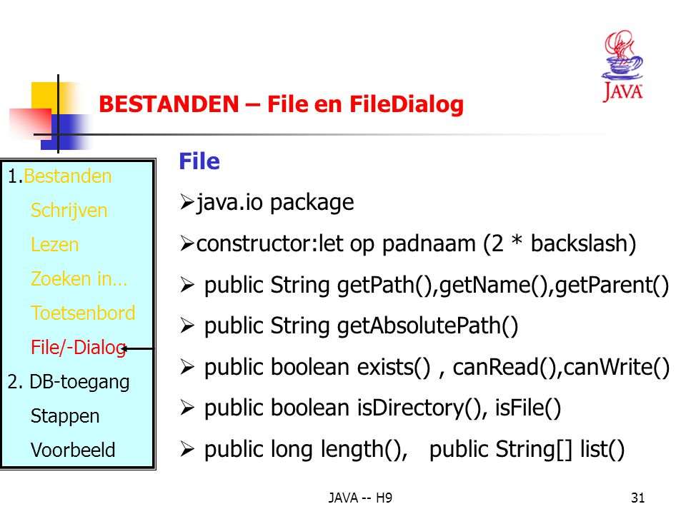 BESTANDEN – File en FileDialog