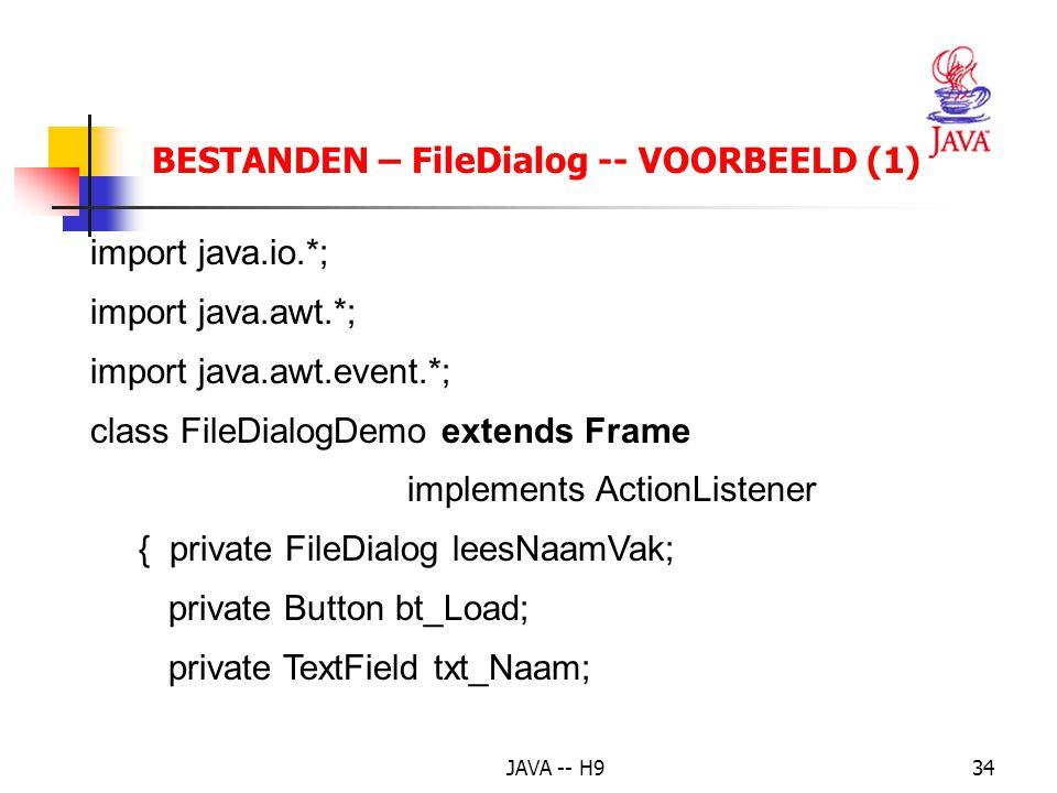 BESTANDEN – FileDialog -- VOORBEELD (1)