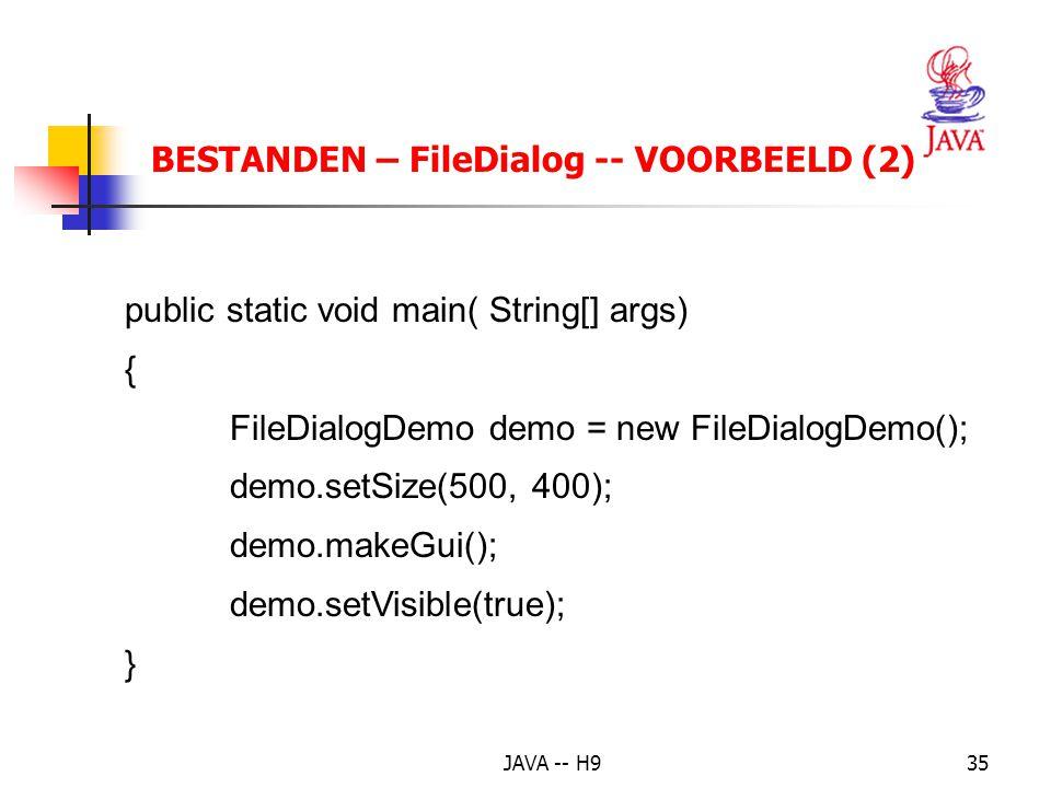 BESTANDEN – FileDialog -- VOORBEELD (2)
