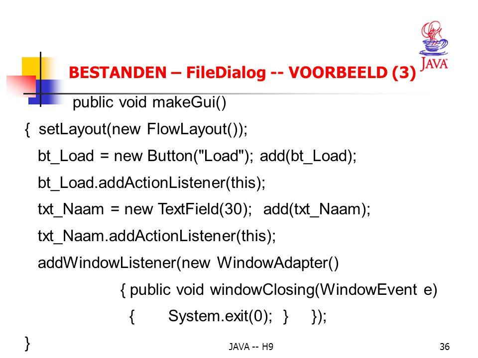 BESTANDEN – FileDialog -- VOORBEELD (3)