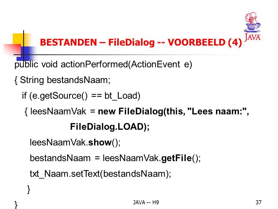 BESTANDEN – FileDialog -- VOORBEELD (4)