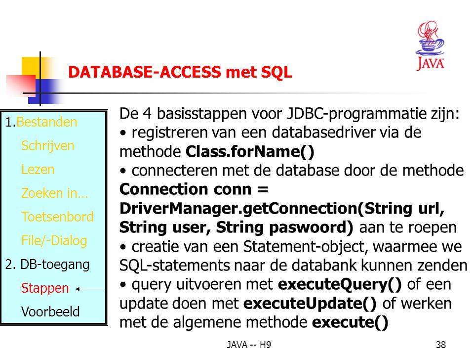 DATABASE-ACCESS met SQL