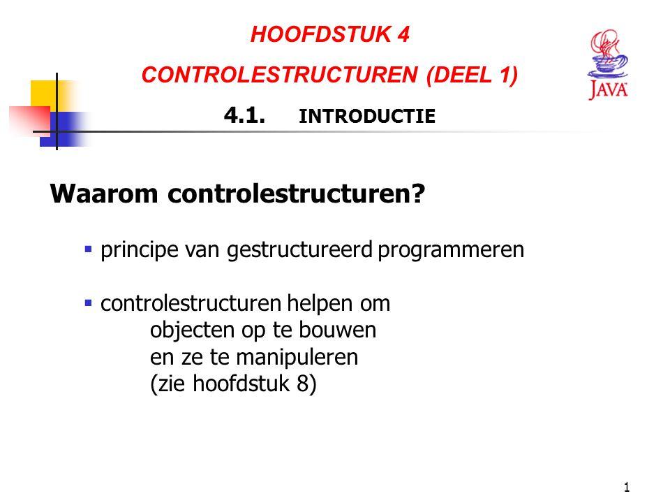 CONTROLESTRUCTUREN (DEEL 1)