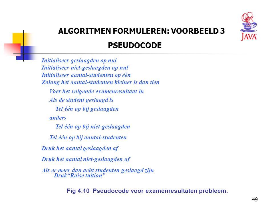 ALGORITMEN FORMULEREN: VOORBEELD 3