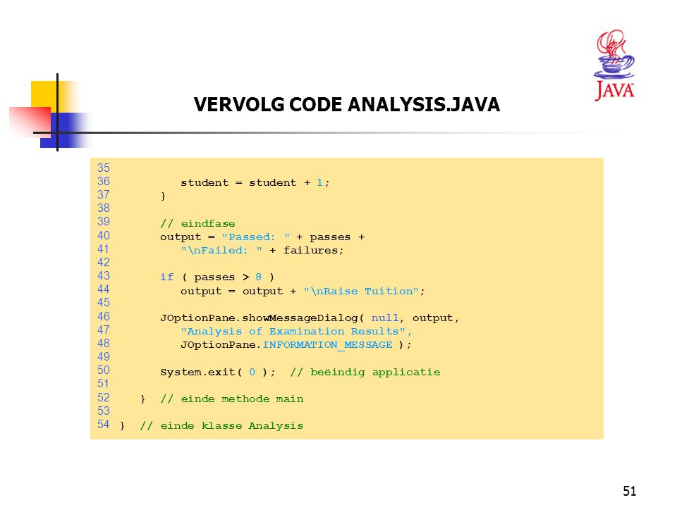 VERVOLG CODE ANALYSIS.JAVA