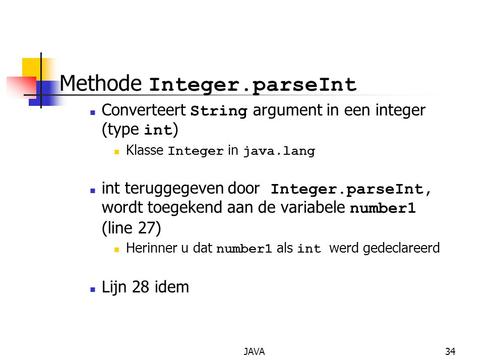 Methode Integer.parseInt