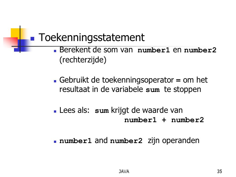 Toekenningsstatement