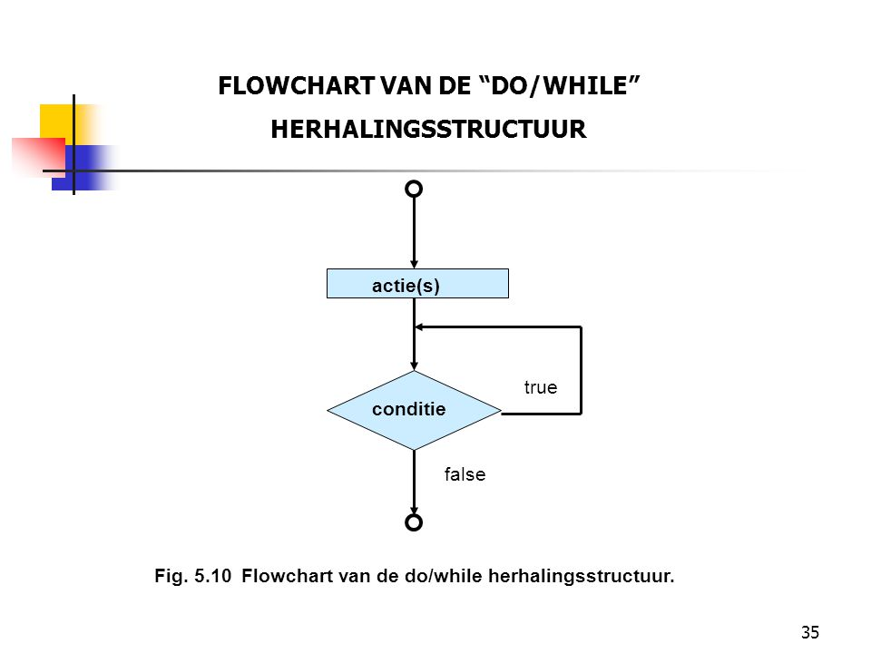 FLOWCHART VAN DE DO/WHILE