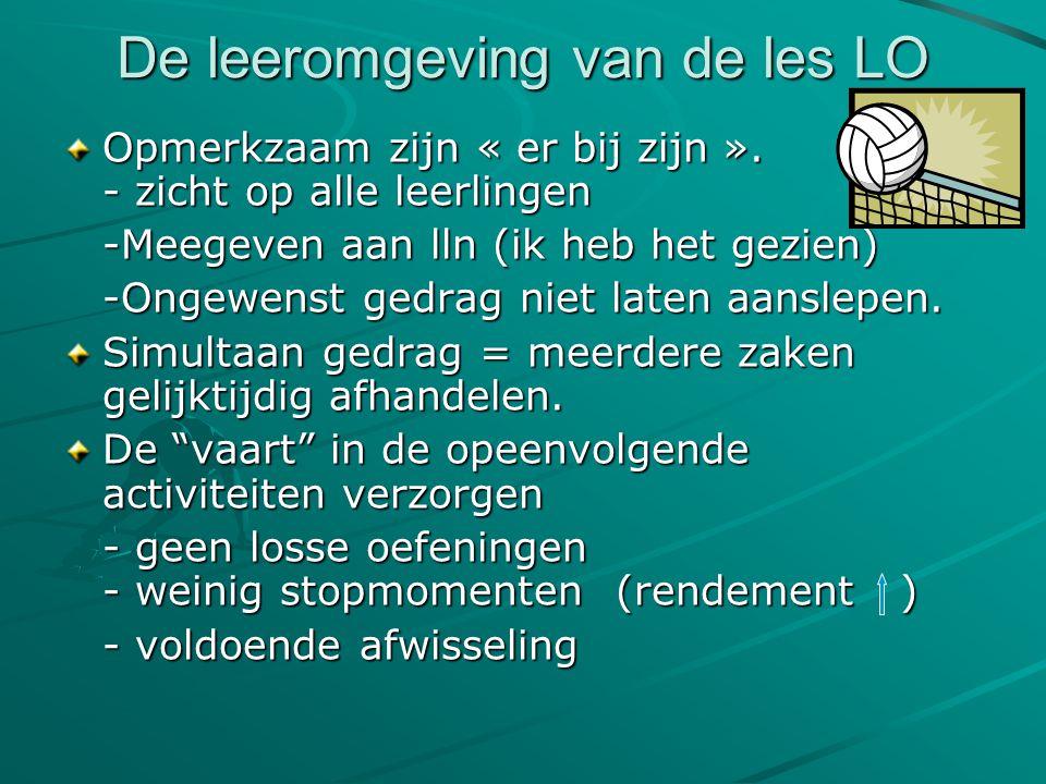 De leeromgeving van de les LO