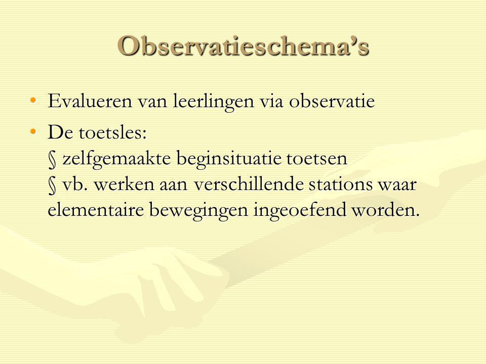 Observatieschema's Evalueren van leerlingen via observatie