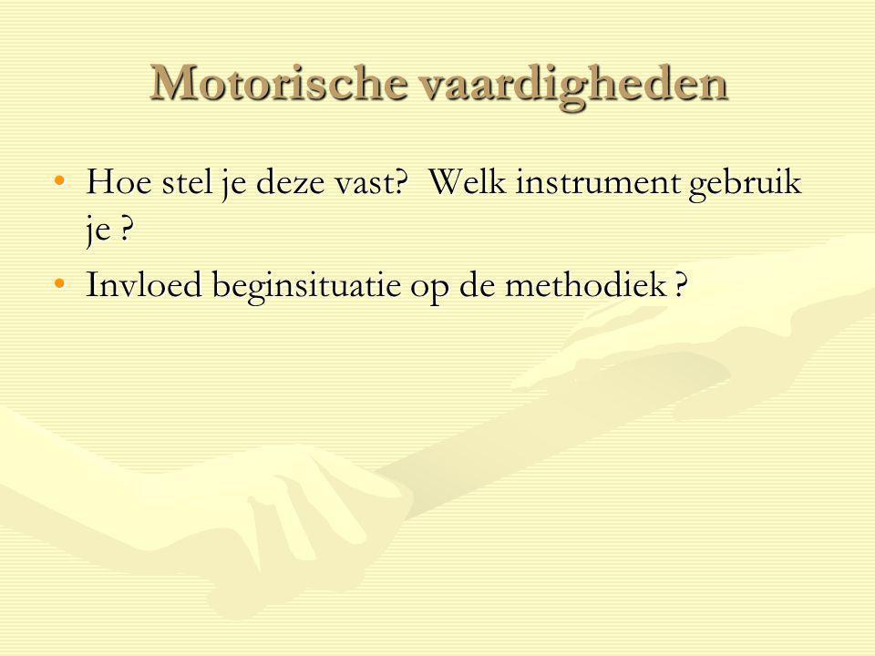 Motorische vaardigheden