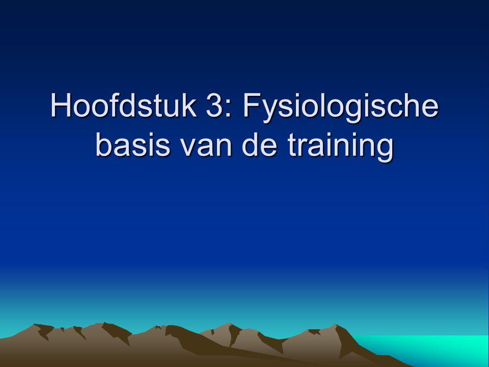 Hoofdstuk 3: Fysiologische basis van de training