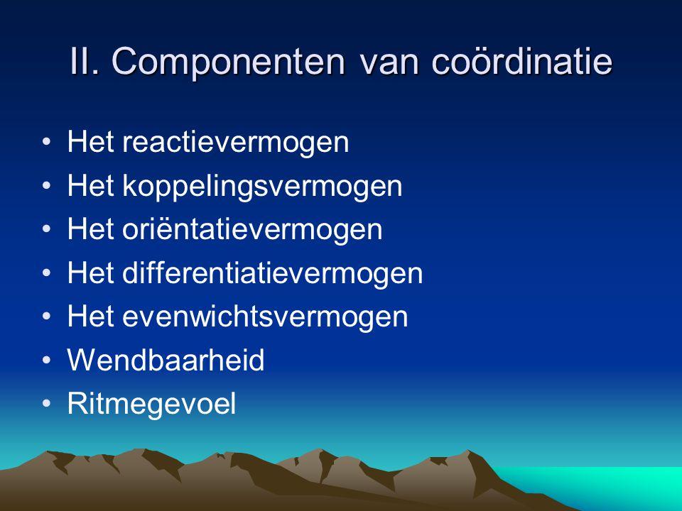 II. Componenten van coördinatie