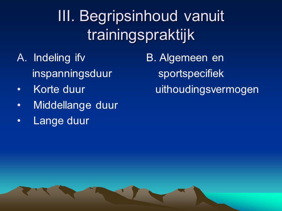 III. Begripsinhoud vanuit trainingspraktijk