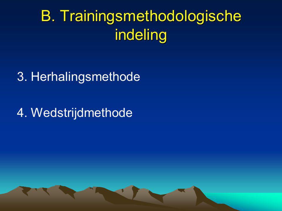 B. Trainingsmethodologische indeling