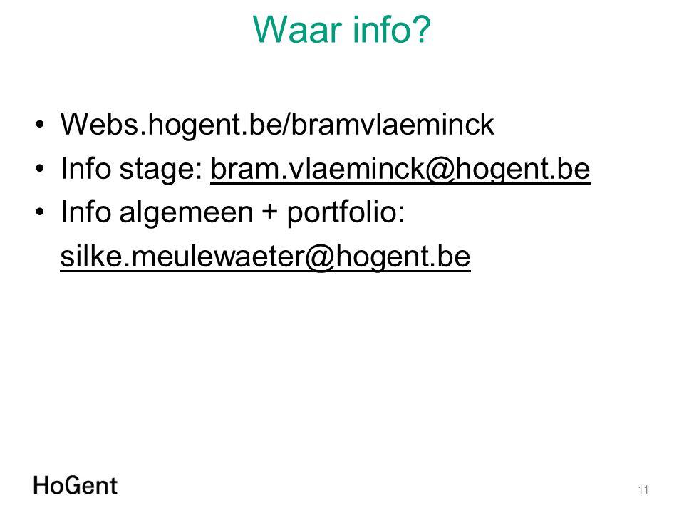 Waar info Webs.hogent.be/bramvlaeminck