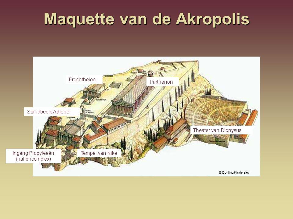 Maquette van de Akropolis