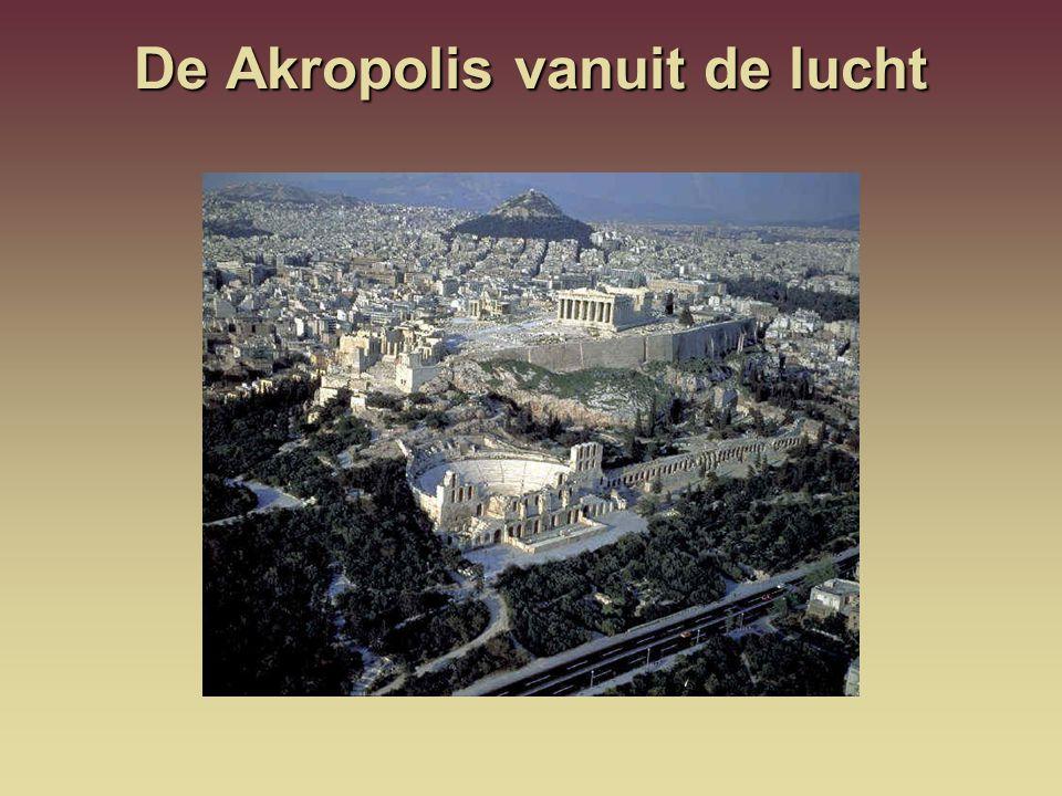 De Akropolis vanuit de lucht