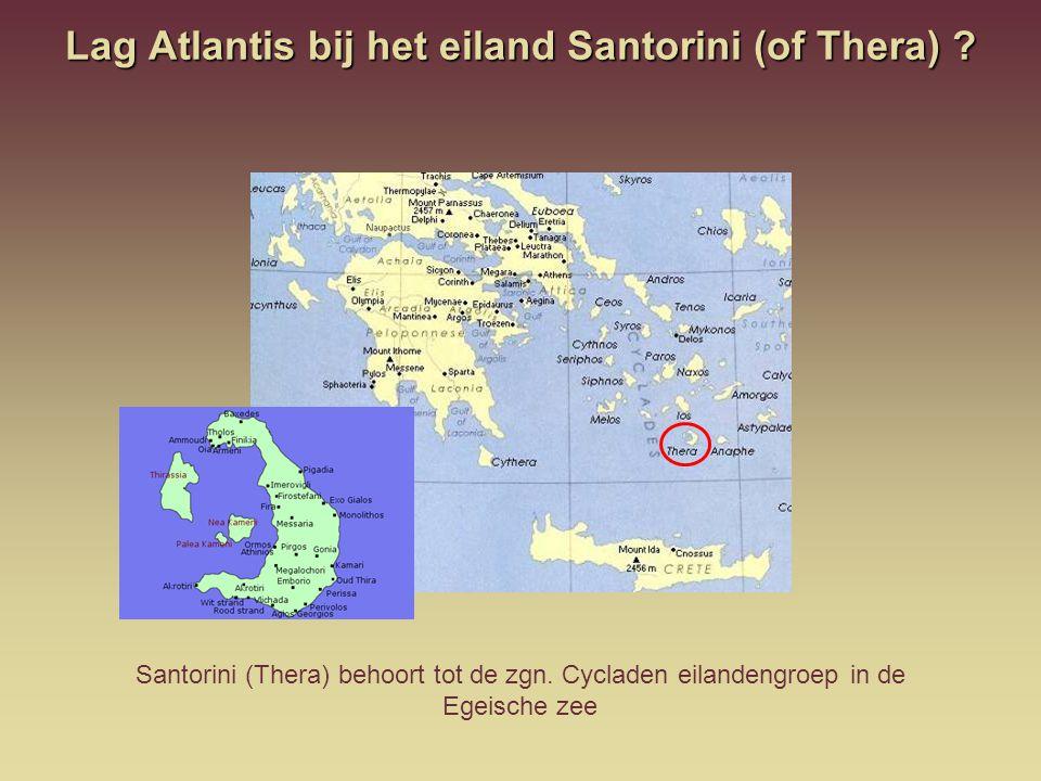 Lag Atlantis bij het eiland Santorini (of Thera)