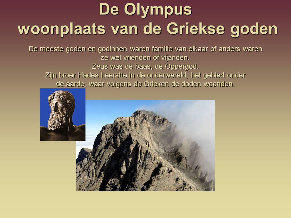 De Olympus woonplaats van de Griekse goden