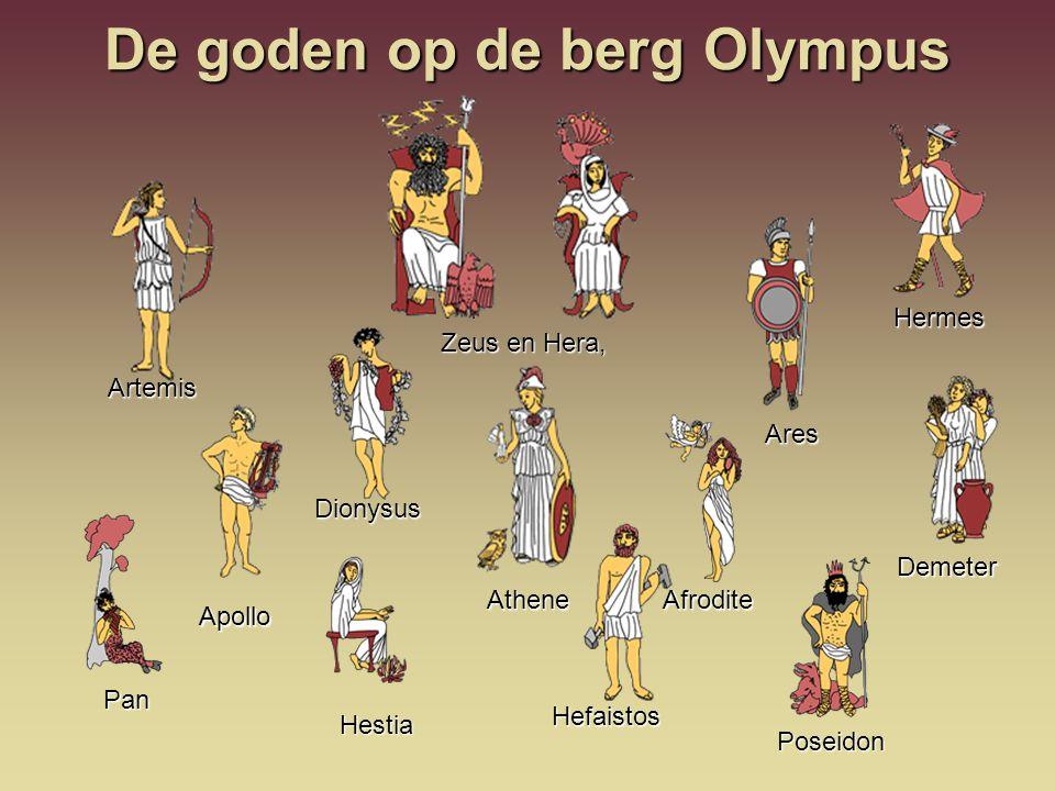 De goden op de berg Olympus