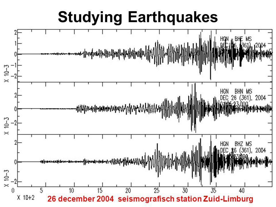Studying Earthquakes 1 seismograaf – seismogram 2 seismische golven